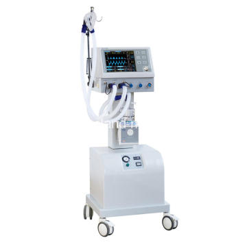 Hospital ICU Ventilator Medical Breathing Equipment With Air Compressor