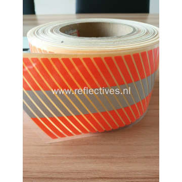 Orange Segmented Heat Transfer Reflective Film