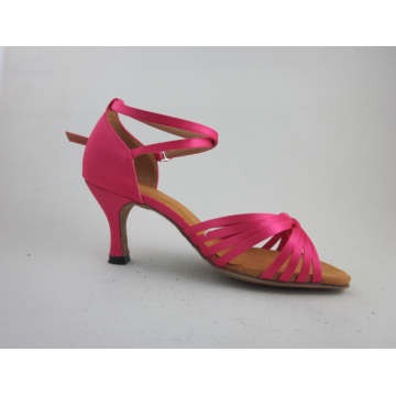 Girls pink latin shoes