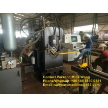 Angle steel processing machine for transmission tower