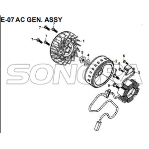 E-07 AC GEN. ASSY for XS175T SYMPHONY ST 200i Spare Part Top Quality