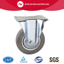 Gray Rubber Fixed Europe Type Casters
