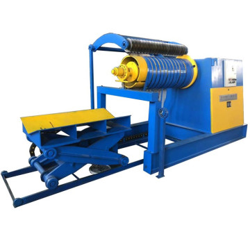 Automatic hydraulic recoiler and decoiler for steel material