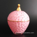 Strawberry glass candle jar of cheap price