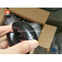 "Leading for  ASTM A234 WPB LR 45 degree elbow fitting 1"" SCH40 BW B16.9 , Black Painting supply to Mali Exporter"