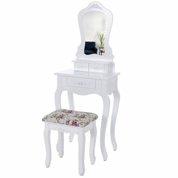 With mirror pretty rose motif Dresser Wall-fixed Dressing Table set