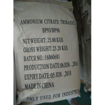 Ammonium citrate food additive high purity E380