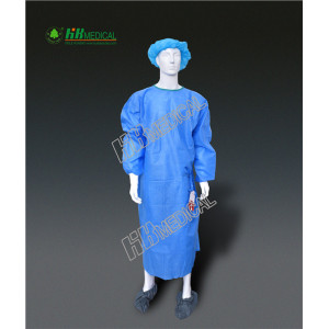 Wholesale Price for Isolation Gown Polypropylene+PE Film Lamination  isolation gown supply to Morocco Wholesale
