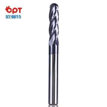 Extra long solid carbide corner radius end mills