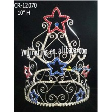 10 Inch Patriotic Crown Star Shape Large Crowns