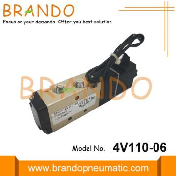 "5/2 Way 4V110-06 1/8"" Pneumatic Solenoid Valve"