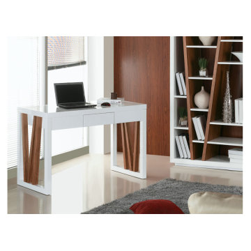 Modern white high gloss computer desk