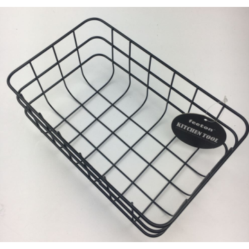black wired powder coating Basket
