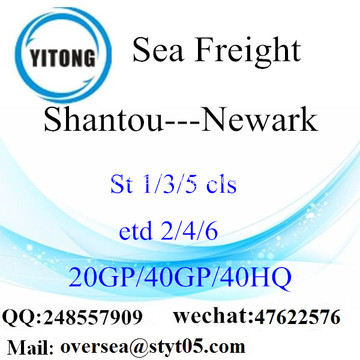 Shantou Port Sea Freight Shipping To Newark