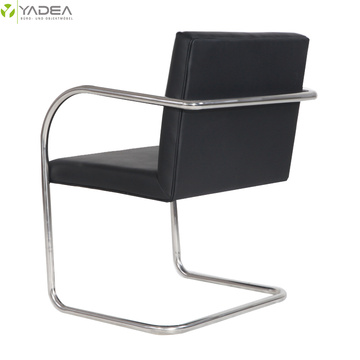 Genuine leather stainless tubular brno chair