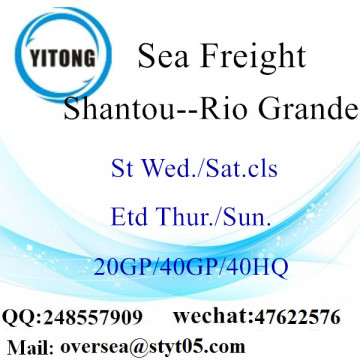 Shantou Port Sea Freight Shipping To Rio Grande