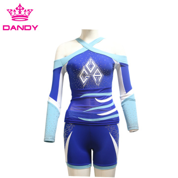 Sublimation printing cheerleading uniform for youth