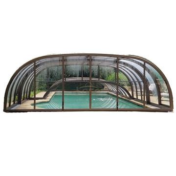 Insulation Sliding Glass Push Foshan Swimming Pool Cover