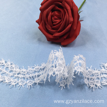 White Floral Flat Crochet Lace Trim