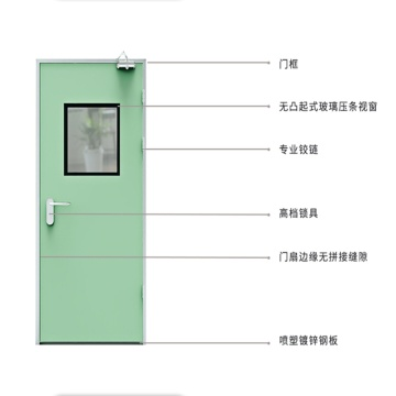Rapid Delivery for Aluminium Out Swing Door cleanroom hospital hpl door for pharmaceutical export to Belarus Manufacturers
