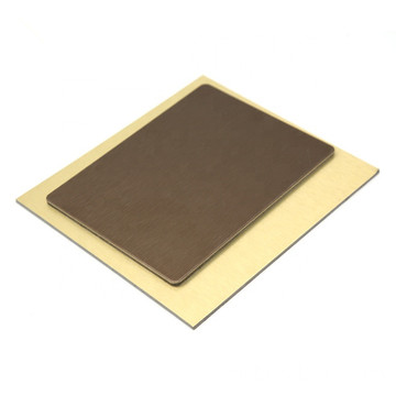4mm pvdf brushed copper acp
