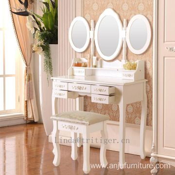 MDF dressing table white new design dresser, wholesale wood make up table