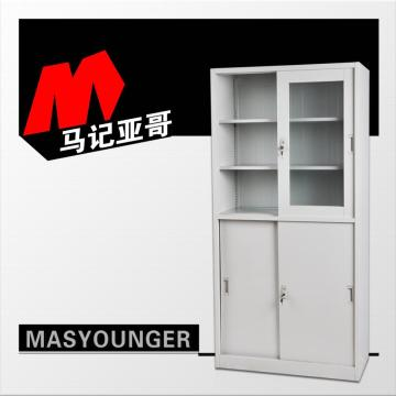 Low price for Office Cupboard up glass door down metal door cupboard supply to Ecuador Suppliers