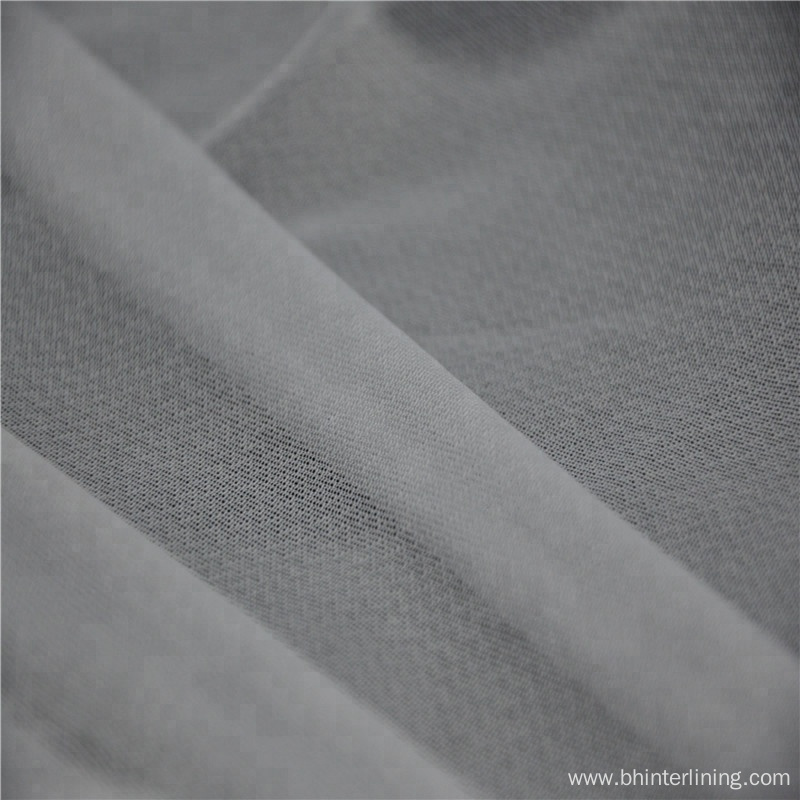 Light weight circular knitted elastic fusible interlining