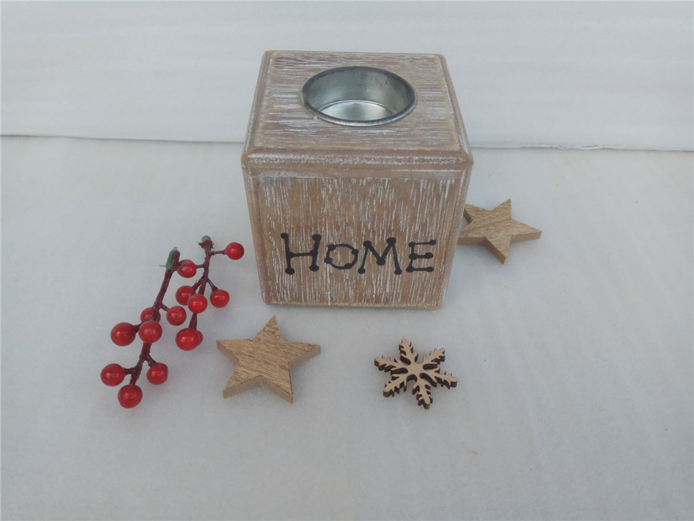 8cm  wooden candle holder