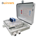 FTTH IP65 Waterproof PLC Splitter Fiber Optic Plastic Distribution Box 16 Port