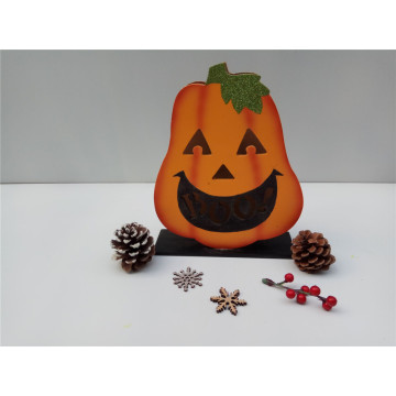Wooden Halloween Pumpkin Light Decoration
