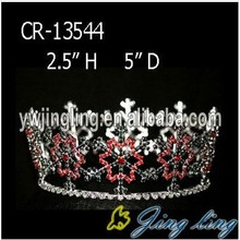 Full Round Snowflake Christmas King Crown For Sale