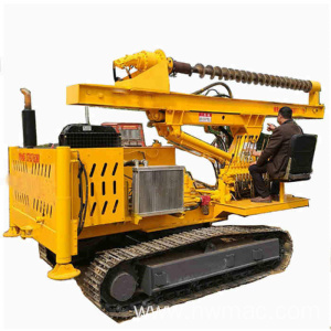 Hydraulic screw steel post ramming spiral piling machine