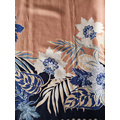 Border Flower Rayon Challis 30S Light Printing Fabric