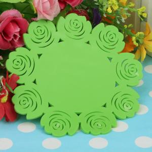 Silicone Cup Coaster Colorful Flower Lace