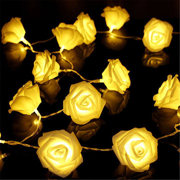 20LED warme weiße Rose Flower Fairy String Lights