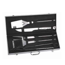 5pcs mirror finished bbq tool set