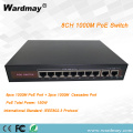 8chs 1000Mbps Double Uplink port POE Switcher