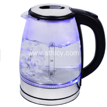 Glass Stainless Steel Electric Kettle
