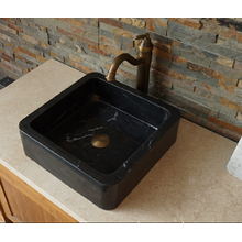 OEM for Marble Bathroom Sinks Nero Marquina black marble sink supply to Russian Federation Manufacturer