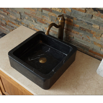 Nero Marquina black marble sink