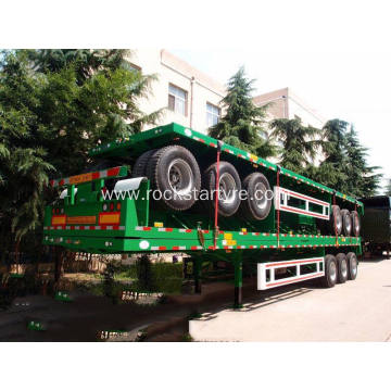 3-axle Flat Bed Container Trailer