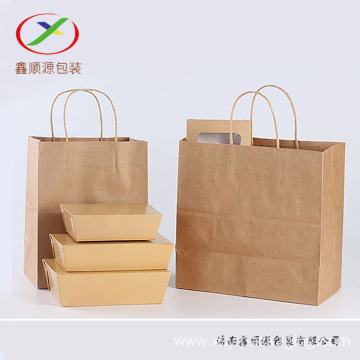 120gsm brown kraft paper shopping bag with handle