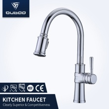 Chrome Finished Deck-Mounted Vessel Kitchen Faucet Mixer