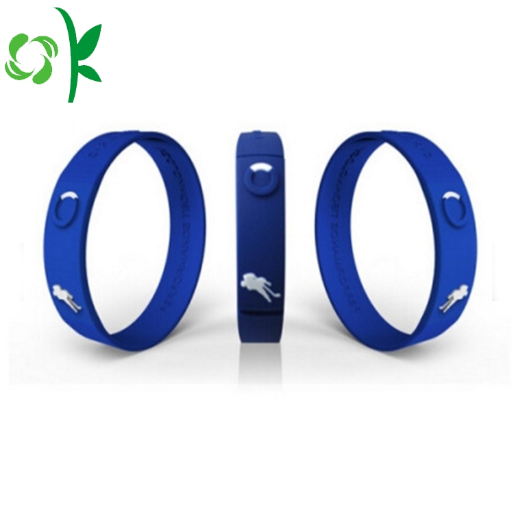 Blue Printed Silicone Ring 3