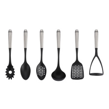 Best quality and factory for Nylon Kitchen Utensils,Nylon Kitchen Cooking Utensils,Nylon Kitchen Utensil Set Manufacturer in China Stianless Steel Handle Cooking Kitchen Utensils supply to Russian Federation Factory