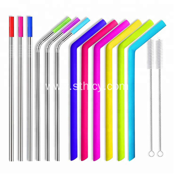 Matle Straws and Silicone Straws with Cleaning Brushes