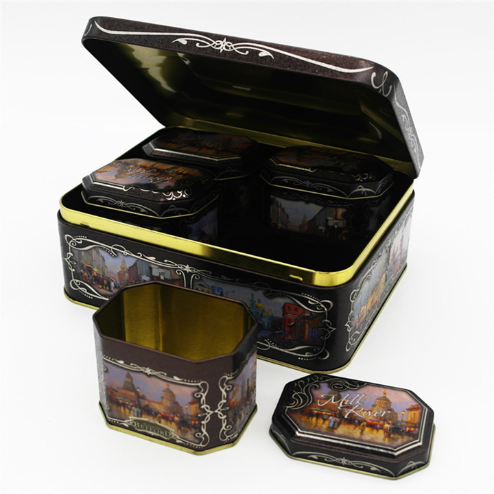 High-end customized moon cake tin box set