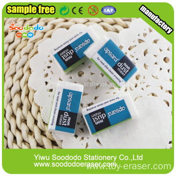 Cheap White Rectangular Custom PVC School Erasers For Children