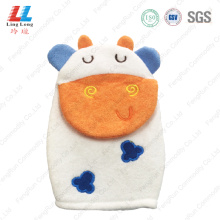 3D cow children daily bath gloves